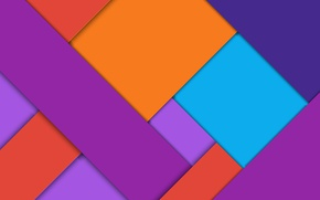 Картинка vector, abstract, геометрия, design, art, orange, color, violet, material, light blue