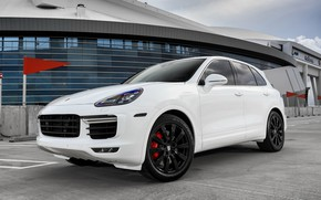 Картинка Porsche, White, Turbo, Cayenne