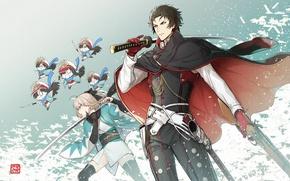 Картинка меч, аниме, арт, парень, fate grand order