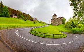 Обои природа, Vaduz, дорога, Liechtenstein