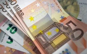 Обои деньги, EURO, купюры, валюта