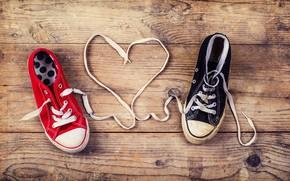 Картинка любовь, сердце, кеды, love, heart, шнурки, romantic, baby, shoes