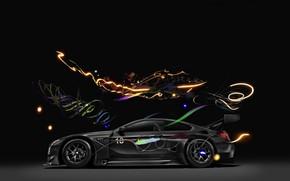 Обои Автомобиль, Art, 2017, Немец, BMW GT3, BMW M6 GT3, Свет, Авто, BMW M6, Арт, БМВ, ...