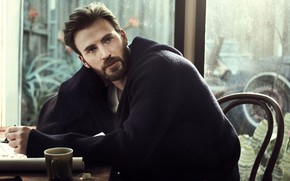 Картинка взгляд, окно, мужчина, Chris Evans, For Esquire