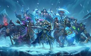 Картинка axe, sword, ice, Warcraft, warhammer, armor, ken, blade, warrior, ork, Hearthstone: Heroes of Warcraft, wepon, …