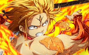 Картинка fire, battlefield, flame, sword, anime, fight, ken, blade, asian, manga, japanese, oriental, asiatic, spark, Alibaba, …
