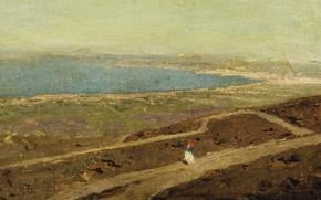 Картинка пейзаж, картина, Василий Поленов, Только Ходить по Побережью