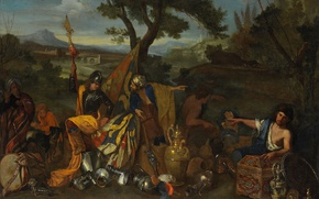 Картинка масло, картина, холст, Андреа ди Леоне, Коробейники
