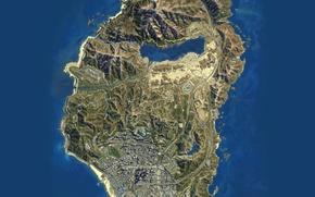 Картинка Rockstar, Map, Grand Theft Auto V, GTA V