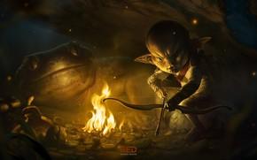 Картинка фэнтези, арт, illustrator, hunter, George Redreev