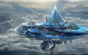 Картинка Leon Tukker, humidum aqua center, сооружение, небо, горки, здания, облака