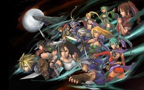 Картинка игра, аниме, Final fantasy, Последняя фантазия, персонажи