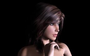 Картинка девушка, модель, портрет