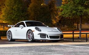 Картинка Porsche, GT3, Night, White, 991