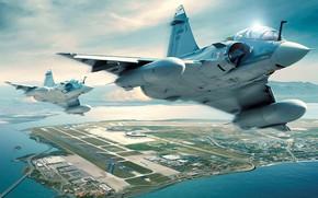 Картинка небо, земля, самолёт, Military aircrafts