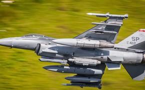Обои самолёт, F-16, оружие