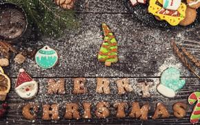 Картинка праздник, игрушки, новый год, печенье, угощенье