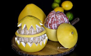 Картинка цитрус, грейпфрут, кожура