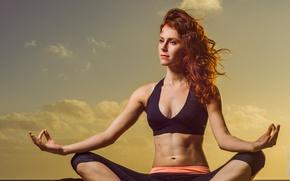 Обои pose, female, yoga