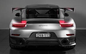 Картинка фары, 911, Porsche, вид сзади, 2018, GT2 RS