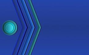 Обои круги, синий, полосы, фон, цветные