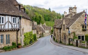Картинка Англия, Дома, Деревня, Castle Combe