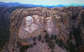 Картинка скала, гора, США, президенты, Южная Дакота, Рашмор