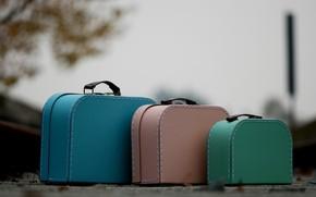 Картинка фон, цвет, чемоданы