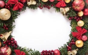 Картинка Новый Год, Рождество, merry christmas, decoration, xmas, frame