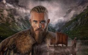 Картинка викинг, драккары, Edikt Art, Викинги Рагнар Лодброк, Vikings Ragnar Lodbrok