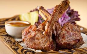 Картинка мясо, косточка, соус