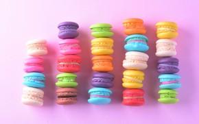 Картинка colorful, десерт, пирожные, сладкое, sweet, dessert, macaroon, french, macaron, макаруны