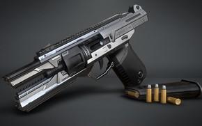Обои арт, Marcelo M. Prado, Sci-fi Handgun, оружие