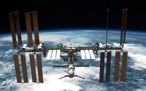 Обои Земля, МКС, вид с космического челнока Индевор, фото, планета, NASA