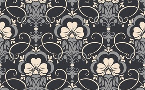Обои цветы, фон, узор, vector, текстура, texture, background, pattern, seamless, damask