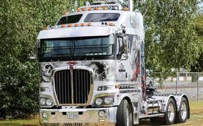 Картинка white, truck, Kenworth, hrome