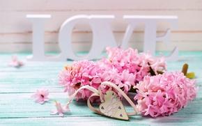 Картинка love, vintage, heart, pink, flowers, romantic