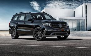 Обои Mercedes-Benz, Brabus, мерседес, X166, GL-Class