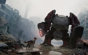 Картинка город, разрушения, руины, fog of war, T-X20 AKA King Catfish