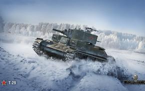Картинка советский танк, Т-29, World of Tanks, WoT, Wargaming