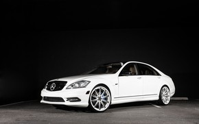 Картинка Mercedes, wheels, with, S550, Vossen, CV1