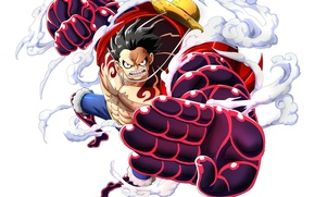 Обои game, anime, pirate, strong, akuma from mi, One Piece, gear 4, oriental, japanese, asiatic, Busoushoku ...