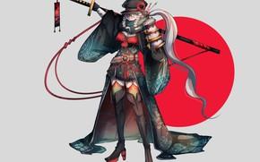 Картинка kawaii, Japan, armor, weapon, anime, katana, sun, ken, blade, samurai, asian, martial artist, warrior, powerful, …