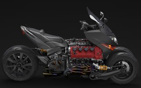 Картинка стиль, мотоцикл, мотор