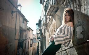 Картинка стиль, улица, модель, блузка, переулок, Natalia Ostrofsky