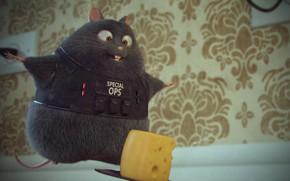 Картинка сыр, мышка, детская, Special OPS, Milton Dias