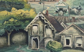 Картинка 1918, A Small Town, Чарльз Эфраим Бёрчфилд