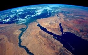 Обои космос, земля, Египет, Африка