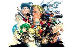 Картинка anime, man, hero, asian, manga, japanese, oriental, asiatic, powerful, strong, muscular, yuusha, One Punch Man, …