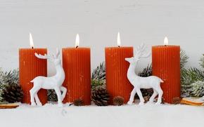 Картинка свечи, Новый Год, Рождество, merry christmas, decoration, xmas, holiday celebration